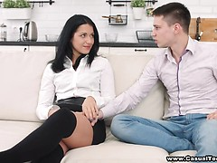 Casual sex and loud orgasm