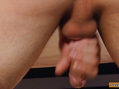 Straight boy wanking, Trevar squirts his load