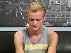 Sexy blond twink Nicholas Reed stars in his first Helix LIVE show