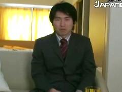 Horny Japanese Salary Man Gets Jerked Off