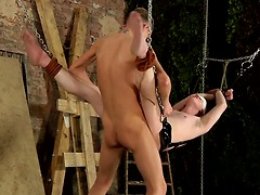 Dylan gets his hole stretched out by Reece before taking that big cock