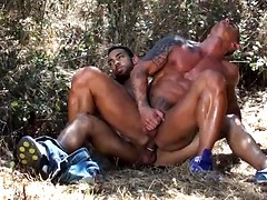 Two very hot and half naked men happen to be stranded in the arid Iberian countryside trying to ...