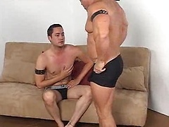 Tazma, a Latino muscle brute, wants to have his way with Orion Cross. Orion can only resist a little while before he ...